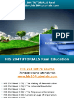 HIS 204 TUTORIALS Real Education/his204tutorials.com