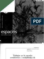 Sandra Nicastro - Trabajar en La Escuela Condiciones y Modalidades de Respuesta Ante El Cambio
