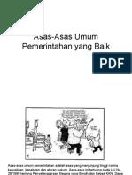 Asas-Asas Umum Pemerintahan Yang Baik