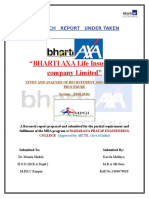 Bharti Axa Recruitment and Selection