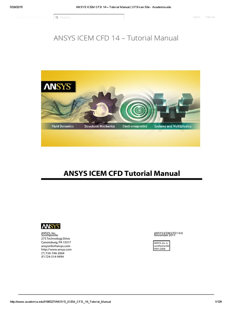 ansys icem cfd 14 tutorial manual rh scribd com ansys icem cfd 11.0 tutorial manual ANSYS User Manual