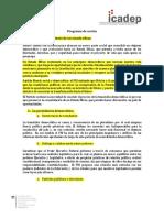 Resumen del Programa de Acción del PRI
