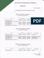 Quiz I&II and Mid-Sem Exam Schedule_2016
