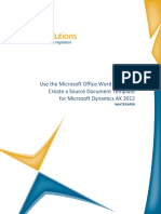 Microsoft Office Word Add Ins - Microsoft Dynamics Ax 2012 - Whitepaper
