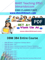 DBM 384 MART Teaching Effectively dbm384martdotcom