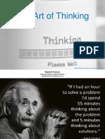 The Art of Thinking - Rajnish Kumar