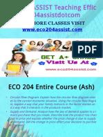 ECO 204 ASSIST Teaching Effectively eco204assistdotcom