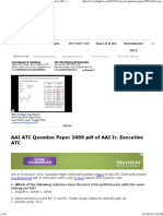 Aai Atc Question Paper 2009 PDF of Aai Jr