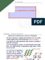 (3) Struttura e Geometria Cristallina (1)
