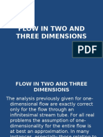 Two and Three Dimentional Flow