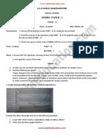 2 SocialStudies Model Paper 1