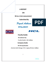 FINAL report by piyulat07RETAIL STORE MANAGEMENT