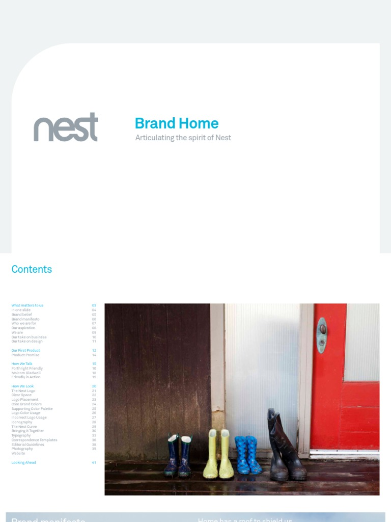 Nest Brand book (2013) | Typography | Typefaces