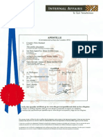 Letters Patent SKOA Apostille No 00466.1 n 00466.2 n 00466.3F Dated 14th July 2015
