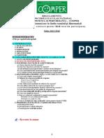 Regulament Elevi COMPER 2015-2016
