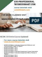 BCOM 230 Professional Tutor Bcom230mart.com