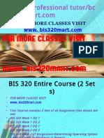 BIS 320 Professional Tutor Bcom230mart.com