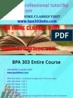 BPA 303 Professional Tutor Bpa303edu.com