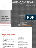 Testing Tools Live Project