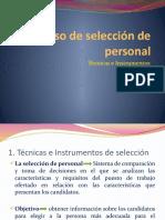 El proceso de selección de personal. Técnicas e Instrumentos