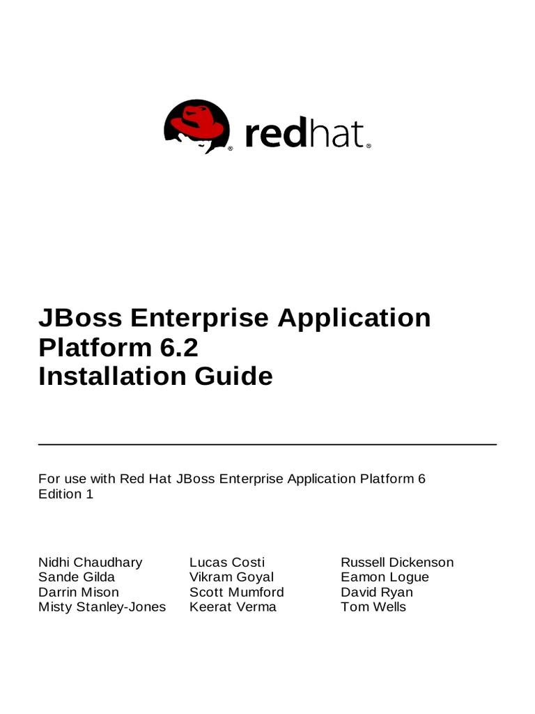 jboss enterprise application platform 6 2 installation guide en us rh scribd com jboss 6.4 installation guide jboss 6.4 installation guide