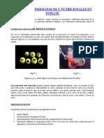 Desordenes Fisiologicos y Nutricionales en Tomate