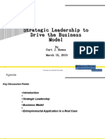 Strategic Leadership to Drive the Business Model