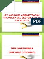 LEY MARCO DE ADMINISTRACIÓN  FINANCIERA DEL SP _Ley28112_PPT.pdf