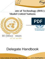 Model United Nations - Delegate Handbook - IIT (BHU)