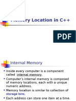 Memory Location in C++