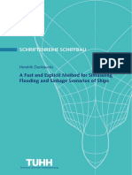 A Fast and Explicit Method for Simulating Flooding and Sinkage Scenarios of Ships