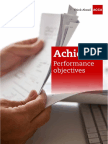 Performance Objectives Handbook
