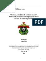Critical Appraisal Mikronutrient Pada Bayi