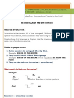 Pronunciation and Intonation Exercise