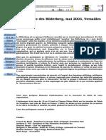 Conférence Des Bilderberg, Mai 2003, Versailles