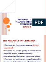 2.1 Charismatic and Transformational Leadership