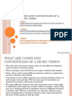 Codes and Conventions of a Music Video 3