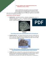 Principales Rocas Igneas Que Albergan Depositos Minerales en El Peru