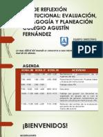 Día de Reflexión Pedagógica- Colegio Agustín Fernández