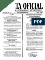 Gaceta Oficial Número 40.883 de la República de Venezuela, 12 de abril de 2016