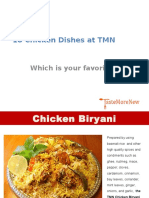 18 Chicken Dishes at TMN
