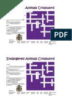 Endangered Species Crossword