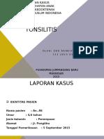 PPT Lapsus Tonsilitis