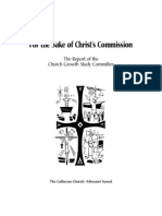 For the Sake of Christ's Commission