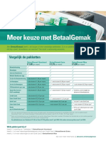 Leaflet Nieuwe Betaalpakketten
