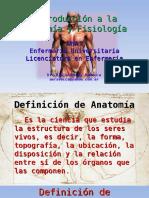Introducción a La Anatomía y Fisiología