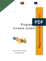 Regulamento Do Programa Investe Jovem