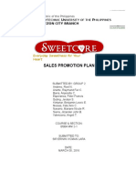 Sales Promotion Plan