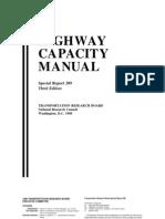 Highway Capacity Manual 3rd edition