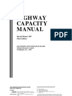 Highway Capacity Manual 3rd edition